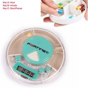 Healthcare Electronic Timer Pill Box Organizer - Round