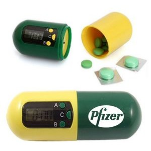 Capsule Shaped Digital Electronic Timer Pill Box